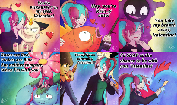 VDay Set - UNLEASH THE PUNS! by Cold-Creature