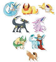Pokemon Stickers Set 4 by Applewaffles