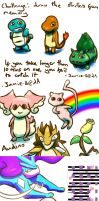 Pokemon speed sketches for friends by Jamie-B