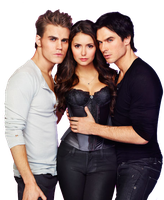 Ian Somerhalder, Nina Dovrev and Paul Wesley PNG by debs89twilightymas