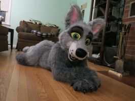 Cute Laying Down pose by SolitaryGrayWolf