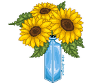 Pixel Practice - Sunflowers by r0se-designs
