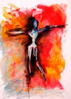 woman in oil II by abha