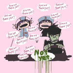 CHIBI-NOOCHANS and uncle murdoc by rumrock
