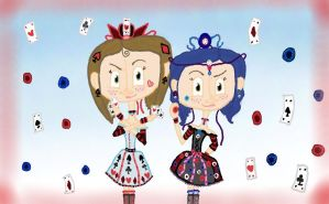 Coraline and me- poker queens by ButtonGirl013