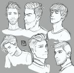 Male faces n hairstyles by SajoPhoe