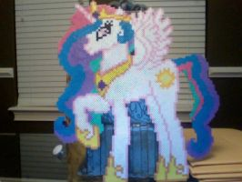 My Biggest Pony Yet: Princess Celestia by Perler-Pony