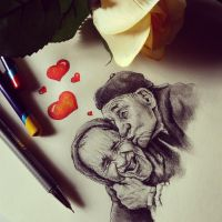 Old couple love by Cleicha
