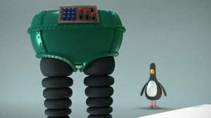 Feathers McGraw and the Techno Trousers by TheBigDaveC