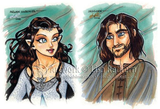 Arwen And Aragorn by taeha