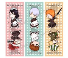 BLEACH :: Bookmark Set by whitefrosty