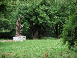 Nature Bg with Statue by ALP-Stock