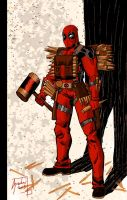 Deadpool Vampire Slayer by Guidux92