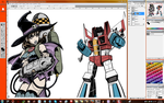 WIP Witch Buster and Starscream by EryckWebbGraphics