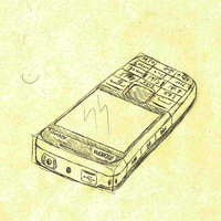 My sketchy, hairy phone by Kurrus