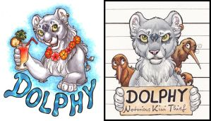 Dolphy Badges by DolphyDolphiana