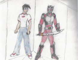 Danny Fenton and Dragon Knight by Hellscream02