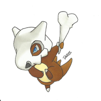 Kanto no. 104 Cubone by Randomous