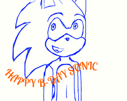 HAPPY B-DAY SONIC by silhouette-hedgehog