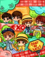EXO-K BINDER COVER by misunderstoodpotato