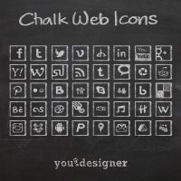 Chalk Web Icons by youthedesigner