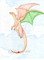Flying Charizard by Inkblot-Rabbit