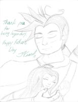 Mordoria Father's Day Card by acklaygohome
