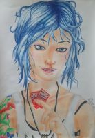 Chloe Price prismacolor portrait by Gattsu88