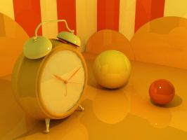 Yellow Clock by SILENTJUSTICE