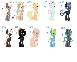 My ponies made with base 6 by Sarahostervig