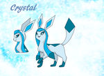 Crystal the Glaceon by PlatinaSena