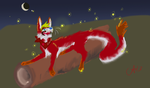 Foxes and fireflies by Recoil-the-Fox87