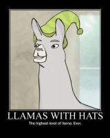 Llamas with Hats by elektri-cute14