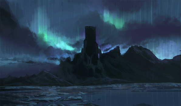 Nothern lights speedpaint and tutorial by AppleSin