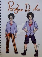 OP: Portgas D. Ace by Icemonkey29