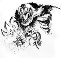 Annie and Tibbers by pleague