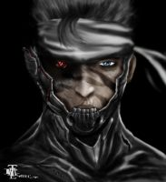 Snake as Ninja Raiden by elartwyne