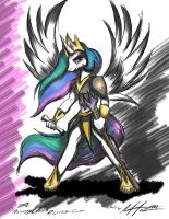 Princess Celestia anthrofied by AFL316