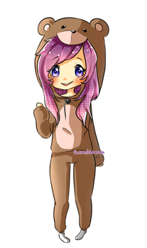 Bear Chibi Commission for Michelle by Shortcxke