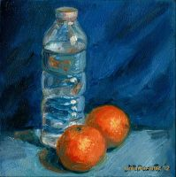 Still life with tangerines by tuolumney