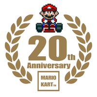Mario Kart 20th Anniversary Logo by TuxedoMoroboshi