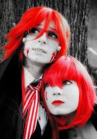 Red is my favourite color - Grell and Madame by Eninaj27