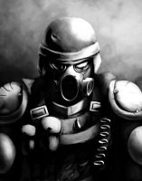 post apocalyptic soldier by fallstrider