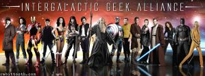 Intergalactic Geek Alliance(Custom Facebook Cover) by Rabittooth