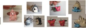 Pokemon Charms Misc by Luherc