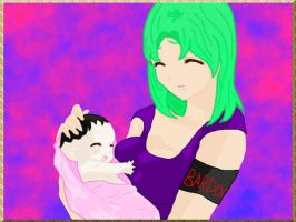 April's first time holding Kree by Mate-of-Bardock