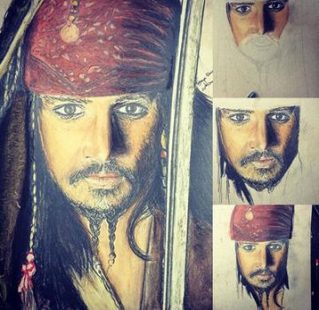 Jack sparrow by thecolourpeople