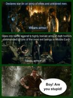 The importance of body armor-Hobbit edition by BeautyAndStrength