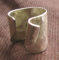 Sliver-Platted Yellow-Copper Ring by Barah-Art