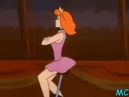 Hypnotized Daphne On A Unicycle 2 by The-Mind-Controller